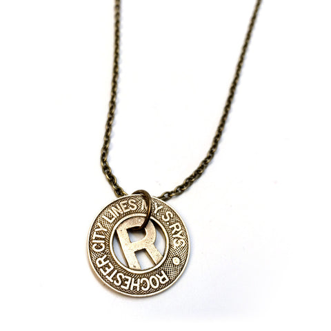 Rochester City Lines Subway Token Necklace