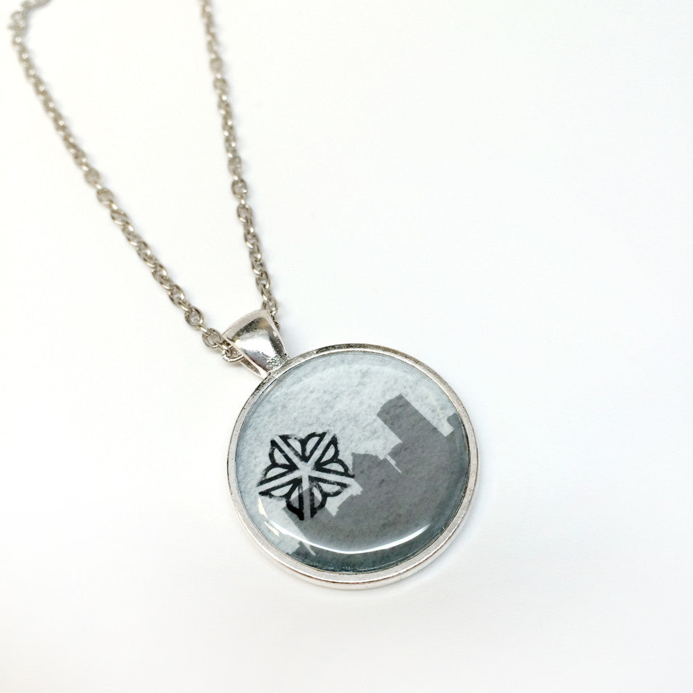 ROC Necklace - Rochester skyline with logo overlap