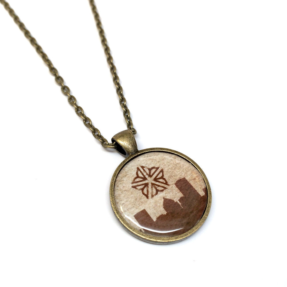ROC Necklace - Rochester skyline with logo center