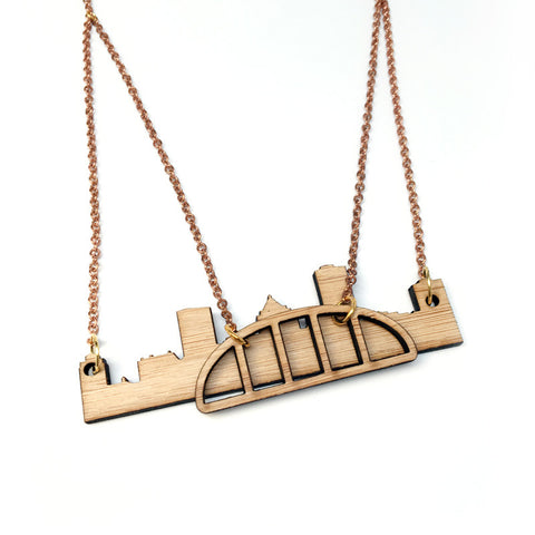 Rochester City Skyline Layer Necklace