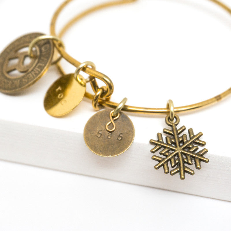 Rochester Subway Token Charm Bangle