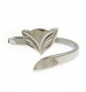 Stainless Steel Fox Ring