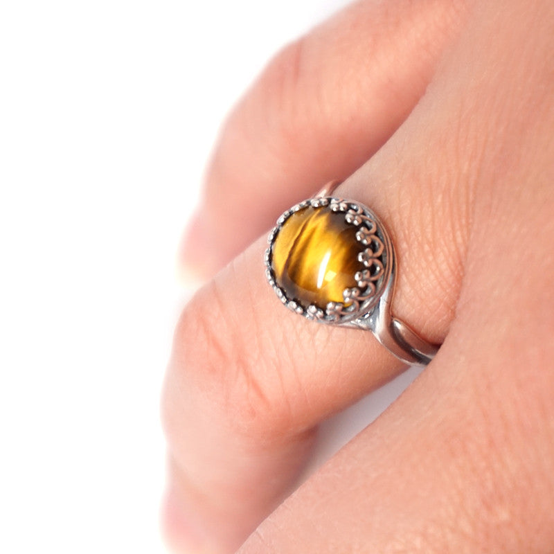 Tiger Eye Sterling Silver Ring