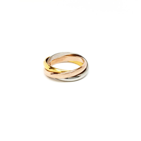 Trinity Infinity Stainless Steel Ring