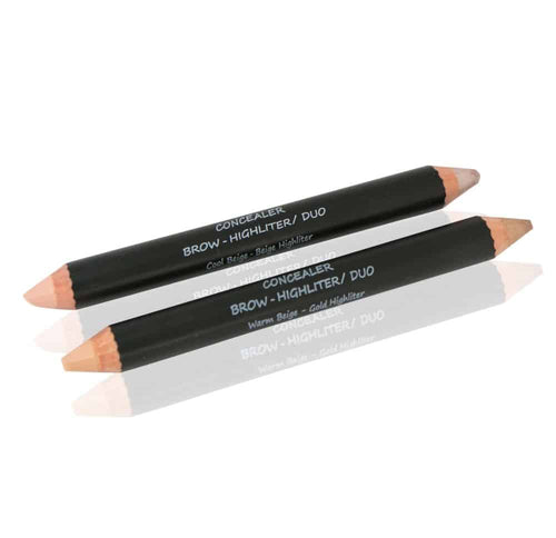 Brow Highlighter and Concealer Pencil 2-in-1. Alluring Minerals Natural Organic Vegan Makeup