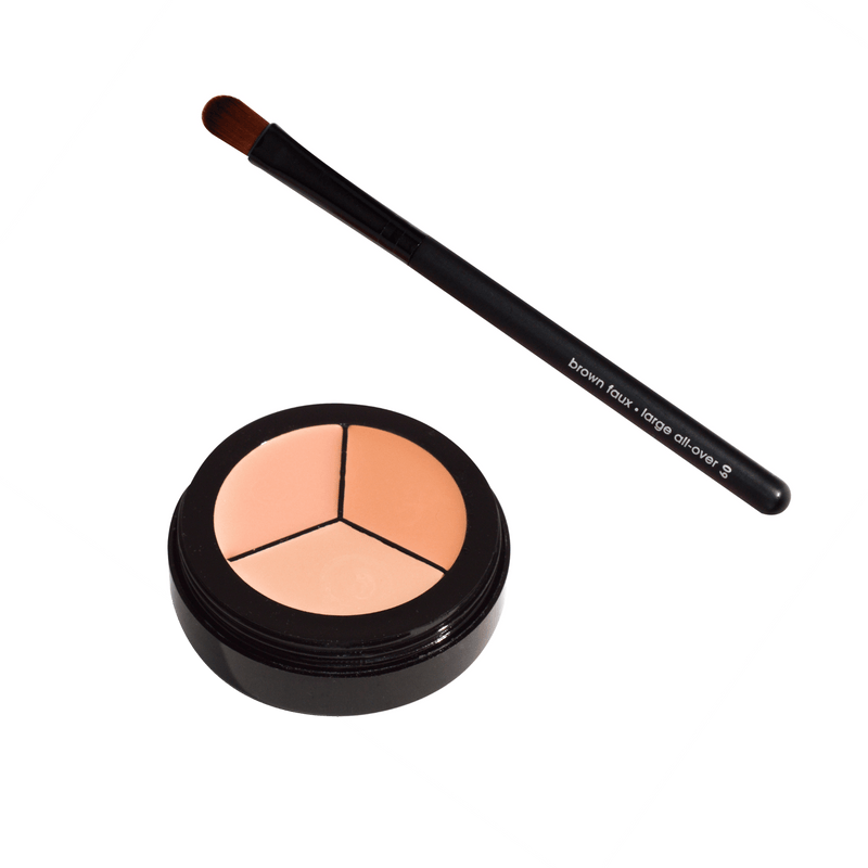 Concealer Trio and Brush Pack - Alluring Minerals