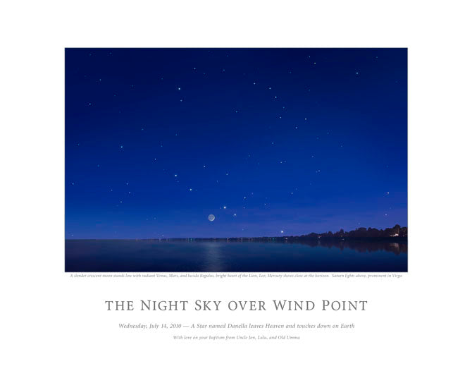 Night Sky Over Wind Point