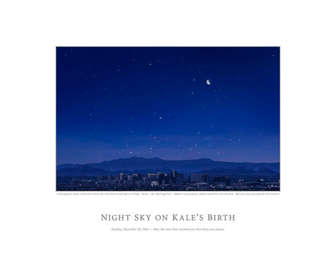 Night Sky on Kale's Birth