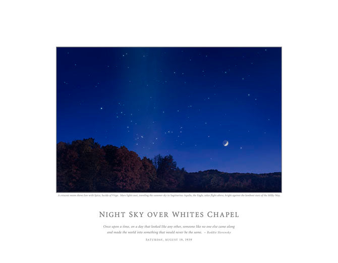 Night SKy Over Whites Chapel