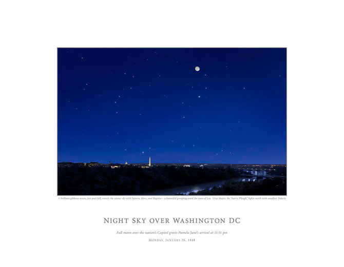 Night Sky Over Washington DC