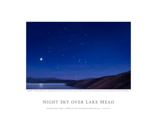 Night Sky Over Lake Mead