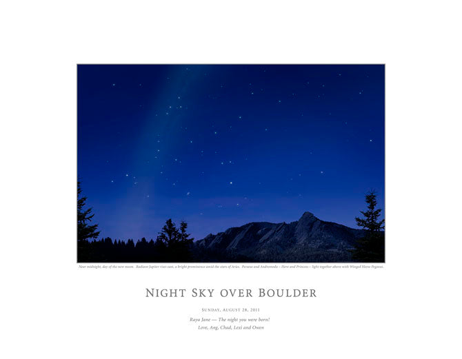 Night Sky Over Boulder