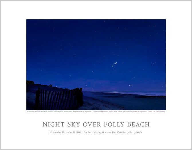 Night Sky Over Folley Beach