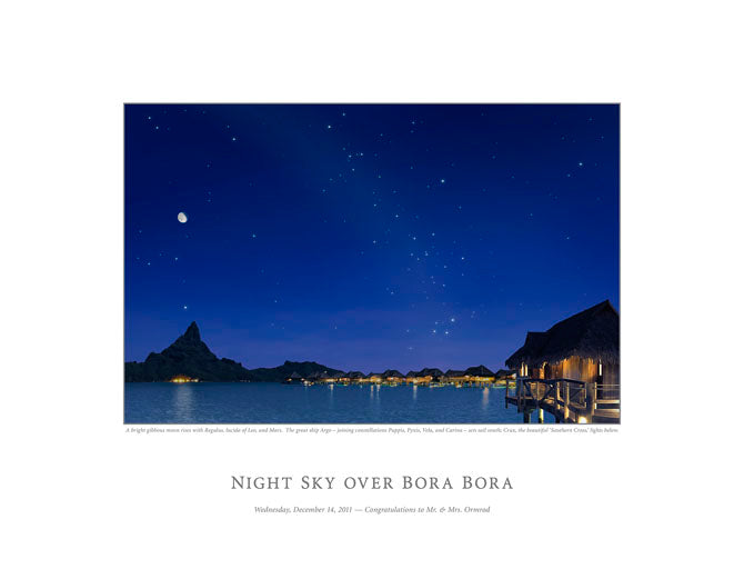 Night Sky Over Bora Bora