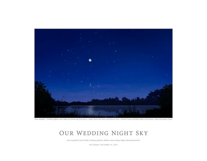 Our Wedding Night Sky