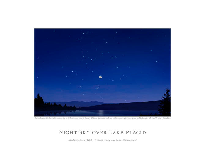 Night Sky Over Lake Placid