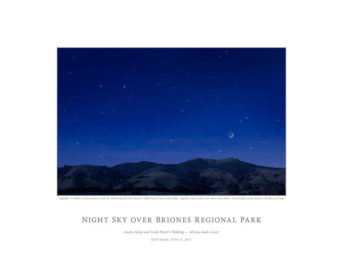 Night Sky Over Briones Regional Park