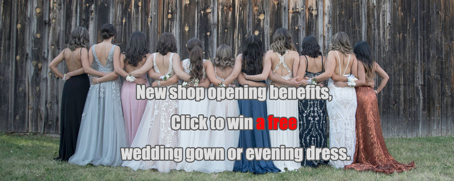 Win a free wedding gown or evening gown