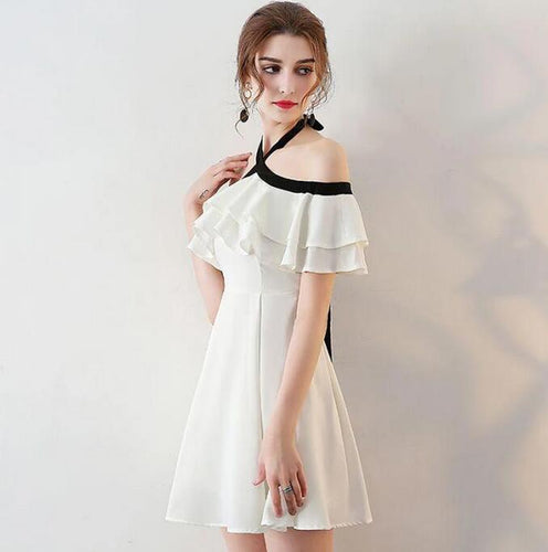 [ Ruth ]Ivory HOCO Dress Short Prom Dress Party Dress