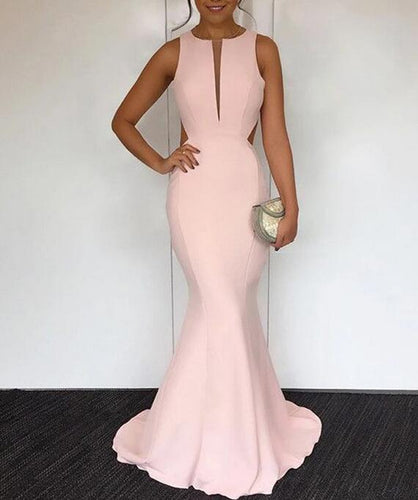 [ Suzanne ]Blush Pink Prom Dress Evening dress Cocktail Dress