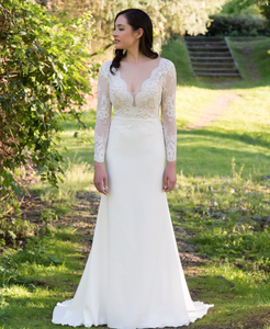 [ Bridget ] Vintage Lace Long Sleeves Wedding Dress Tailor-made  Wedding Gown
