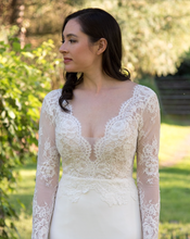 Load image into Gallery viewer, [ Bridget ] Vintage Lace Long Sleeves Wedding Dress Tailor-made  Wedding Gown