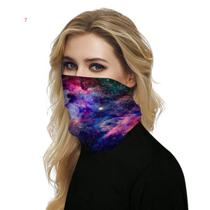 [ King]Seamless Rave Bandana Neck Gaiter Tube Headwear Face Scarf for Women Men