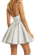 Load image into Gallery viewer, [ Octavia2 ] Satin Dress Lace Applique Short Prom Dress Party Dress