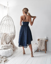Laden Sie das Bild in den Galerie-Viewer, [ Iris ]Sweetheart High-Low Lace Prom Dress Short Party Dress
