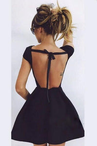 [ Hedda ]Open Back HOCO Dress Formal Evening Party Gown Prom dress Cocktail Dress