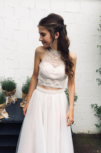 [ Alice ] Two Piece Beading Wedding Dress Prom Dress Evening Dress  Bridesmaid Dresses