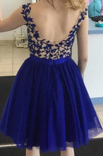 Load image into Gallery viewer, [ Gustave ]Lace Applique Hoco Dress Short Prom Dress Party Dress
