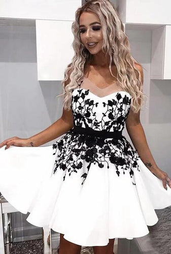 [ Priscilla ]Illusion HOCO Dress Short Prom Dress Party Dress