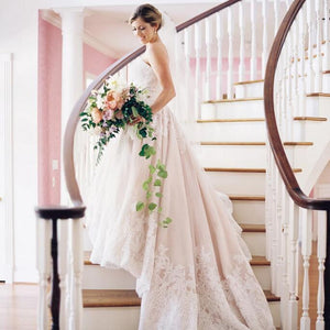 [ Alberta ] Sweetheart Lace Wedding Dress Lace Bridal Gown