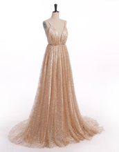 Load image into Gallery viewer, [ Custom Order ] Champagne Rose Women Formal Evening Party Gown Prom Dress