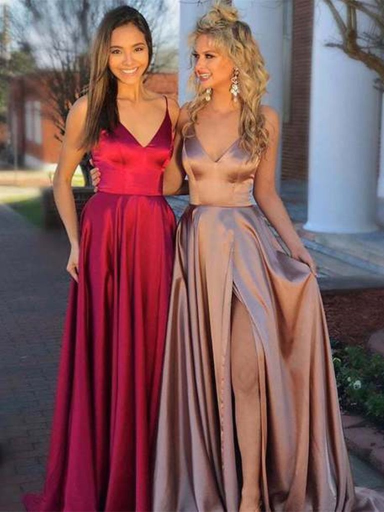 [ Lucia ]Deep V neck Dress Queen Prom Dress Evening dress Cocktail Dress
