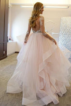 Laden Sie das Bild in den Galerie-Viewer, [ Cara ] Long Sleeves Lace Applique Dress Organza Custom Wedding Dress