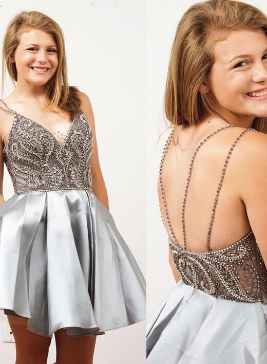 [ Hedy ]Beading Sweetheart HOCO Dress Short Prom Dress Party Dress
