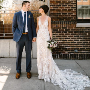 [ Beryl ] Vintage Lace Wedding Dress Custom Made