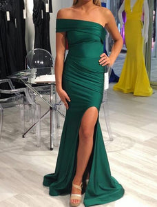 [ Simona ] One-Shoulder Prom Dress Evening Dress