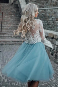 [ Erin ]Lace and Tulle Short Prom Dress Party Dress HOCO Dress Bridesmaid Dresses