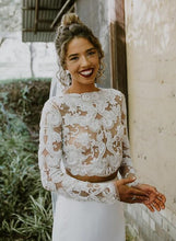 Load image into Gallery viewer, [ Myrna ] Two Piece Vintage Lace Wedding Dress Prom Dress