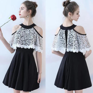 [ Rae ]Lace HOCO Dress Short Prom Dress Party Dress