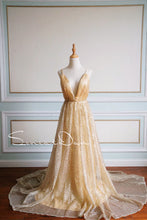 Load image into Gallery viewer, [ Honey ] Champagne Rose Women Formal Evening Party Gown Prom Dress
