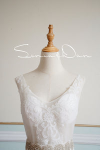 [ Artha ] Vintage Lace Wedding Dress Tailor-Made Wedding Gown