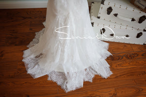[ Elsa ] Vintage Lace Wedding Dress Tailor-Made Wedding Gown
