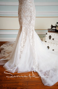 [ Dora ] Vintage Mermaid Lace Wedding Dress Tailor-Made Gown