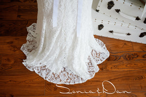[ Hestia ] Vintage Lace wedding dress Tailor Made Gown