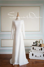 Load image into Gallery viewer, [ Audrey ] Vintage Lace Wedding Dress Tailor Made Long Sleeves Gown