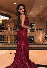 Load image into Gallery viewer, [ Gina ] Bling Spaghetti Straps Embellished Prom Dress